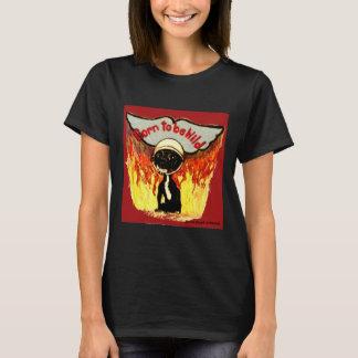野生のチワワがあるために生まれて下さい Tシャツ