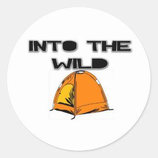 野生のテントに ラウンドシール