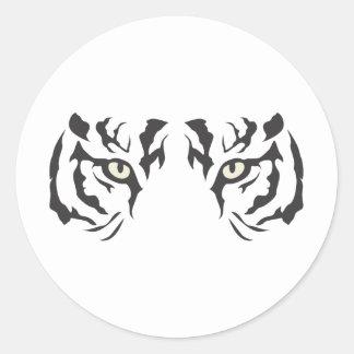 野生のトラの目 ラウンドシール