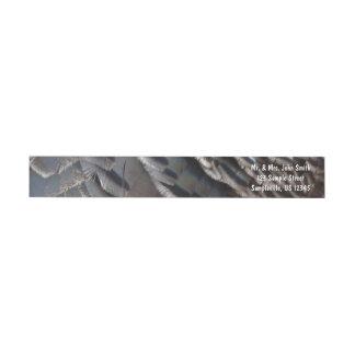 野生のトルコの羽IIの抽象的な自然のデザイン ラップアラウンドラベル