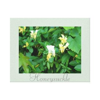 野生のハニーサックルの花の芸術の自然の写真撮影 キャンバスプリント