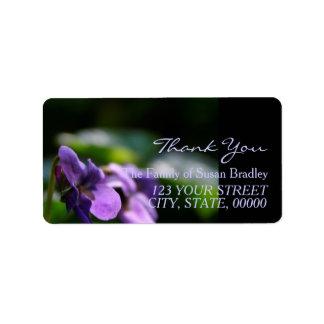 野生のバイオレット家族は宛名ラベル2感謝していしています ラベル