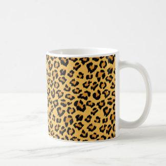 野生のヒョウのプリントの偽造品の毛皮のサファリパターン コーヒーマグカップ