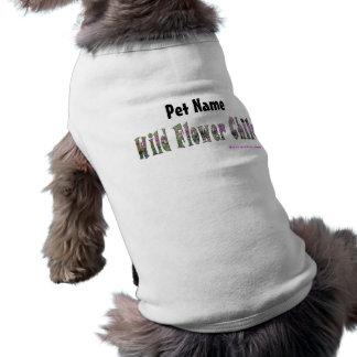 野生のフラワーチャイルドペットワイシャツ(カスタマイズ) ペット服