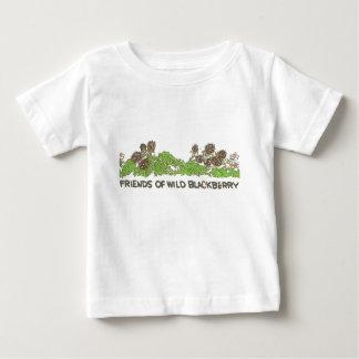 野生のブラックベリーの友人 ベビーTシャツ
