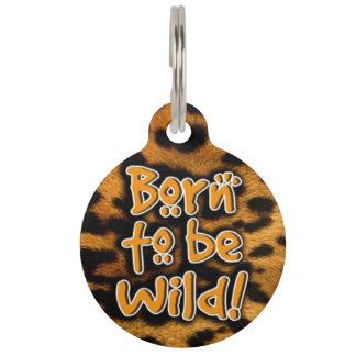 野生のペット用名札があるために生まれて下さい ペット ネームタグ