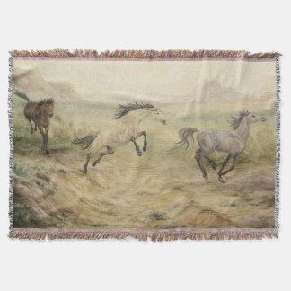 野生のムスタングのブランケット 毛布