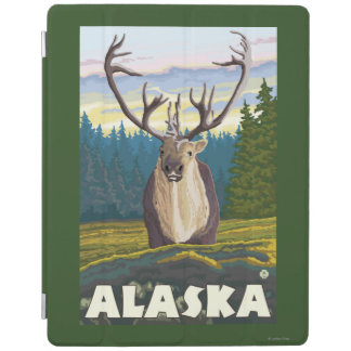 野生のヴィンテージ旅行のAlaskaCaribou iPadスマートカバー
