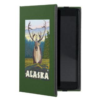 野生のヴィンテージ旅行のAlaskaCaribou iPad Mini ケース
