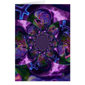 野生の万華鏡のように千変万化するパターン土星 カード
