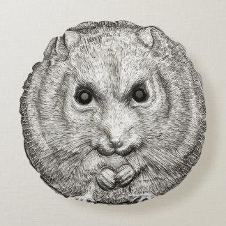 野生の事: ハムスターのDécorの銀製のクッション ラウンドクッション