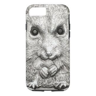 野生の事: 銀製のハムスターの堅いiPhone 7の場合 iPhone 8/7ケース