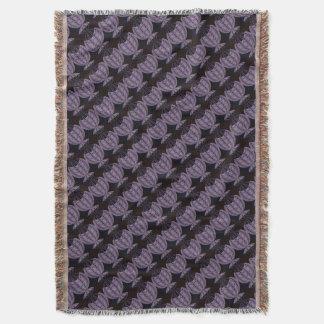 野生の円の紫色の黒いデザイン 毛布