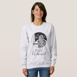 野生の夢みる人のカスタマイズ可能な女性の基本的なスエットシャツ スウェットシャツ