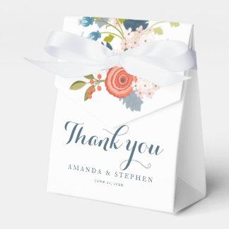 野生の庭の花の結婚式の引き出物箱 フェイバーボックス