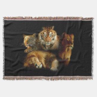 野生の捕食者によって編まれるブランケット 毛布