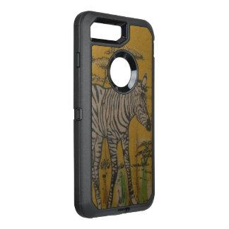 野生の生命ケニヤのアフリカのサファリのシマウマ オッターボックスディフェンダーiPhone 8 PLUS/7 PLUSケース