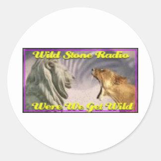 野生の石造りのラジオ ラウンドシール