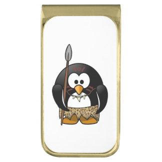 野生の種族のペンギンのおもしろいな漫画 ゴールド マネークリップ