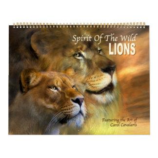 野生の精神-ライオンの芸術のカレンダー カレンダー