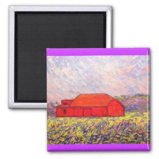 野生の紫色のアイリス マグネット