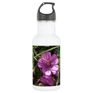 野生の紫色のCranesbill ウォーターボトル