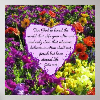野生の花のジョンの紫色の3:16 ポスター