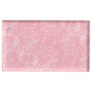 野生の花のダマスク織のピンクのテーブル数立場 テーブルカードホルダー
