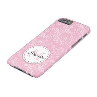 野生の花のダマスク織の花のピンクのiphoneの場合 iPhone 6 ベアリーゼアケース