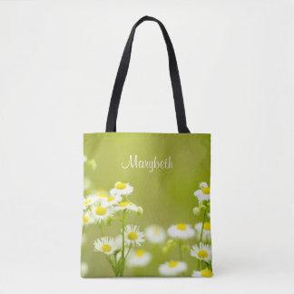 野生の花のフィラデルヒィアのデイジーの柔らかい焦点の植物学 トートバッグ
