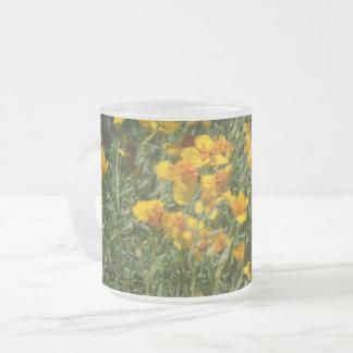 野生の花のマグ フロストグラスマグカップ