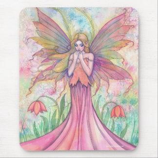 野生の花の妖精のマウスパッド マウスパッド