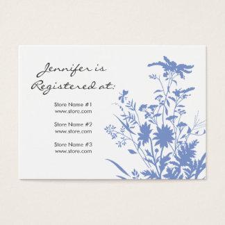 野生の花の登録カード 名刺