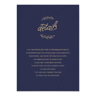 野生の花の結婚式の挿入物 カード