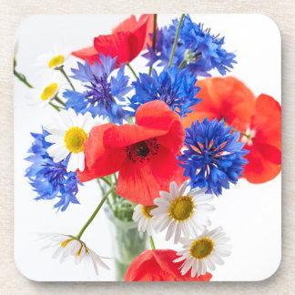 野生の花の花束 コースター