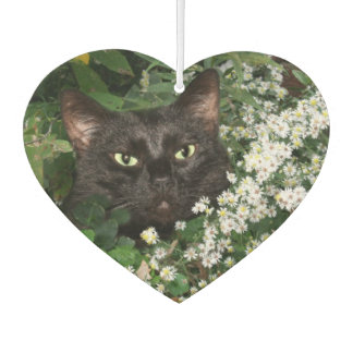 野生の花の黒猫 カーエアーフレッシュナー