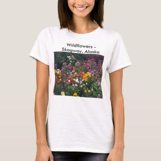 野生の花、アラスカ Tシャツ