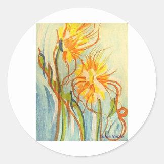 野生の花 ラウンドシール