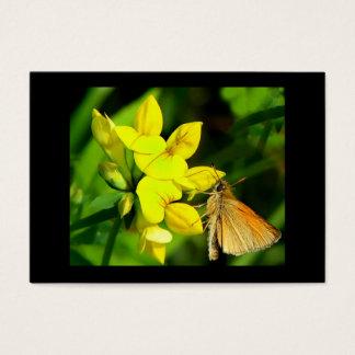 野生の花ATCの飛ぶ人 名刺
