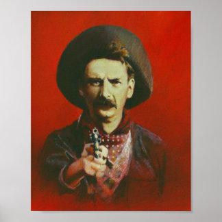 野生の西の無法者のプリントポスター ポスター