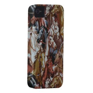 野生の西の馬のブラックベリーはっきりしたな9700/9780 Case-Mate iPhone 4 ケース