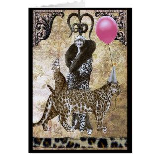 野生の誕生日- Ocelot夫人 カード