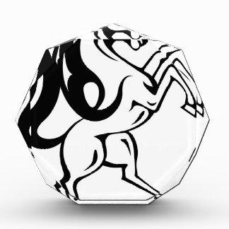 野生の馬のベクトル 表彰盾