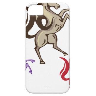 野生の馬のベクトル iPhone SE/5/5s ケース