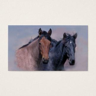 野生の馬の名刺 名刺