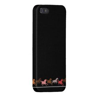 野生の馬の走ること iPhone 5 カバー