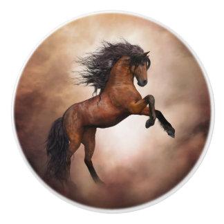 野生の馬の陶磁器のノブ セラミックノブ