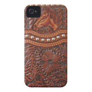 """""""野生の馬""""の西部ブラックベリーの箱 Case-Mate iPhone 4 ケース"""
