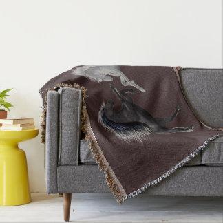 野生の馬 毛布