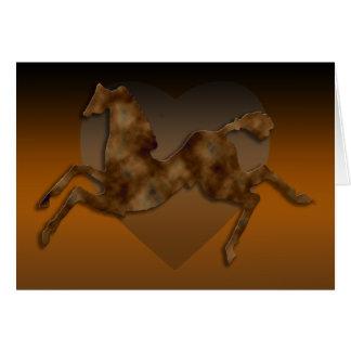 野生の馬#1のカラメルのクリーム カード